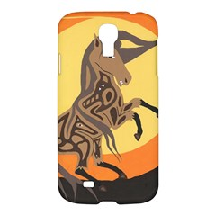 Embracing The Moon Samsung Galaxy S4 I9500/i9505 Hardshell Case by twoaboriginalart