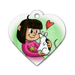 Bookcover  Copy Dog Tag Heart (one Sided)  by millieandcupcake