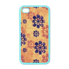 Funky Floral Art Apple Iphone 4 Case (color) by Colorfulart23