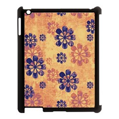 Funky Floral Art Apple Ipad 3/4 Case (black) by Colorfulart23