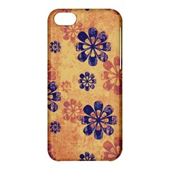Funky Floral Art Apple Iphone 5c Hardshell Case by Colorfulart23