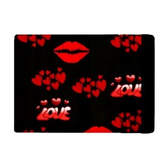 Love Red Hearts Love Flowers Art Apple Ipad Mini Flip Case by Colorfulart23