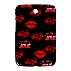 Love Red Hearts Love Flowers Art Samsung Galaxy Note 8 0 N5100 Hardshell Case  by Colorfulart23