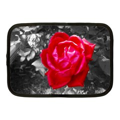 Red Rose Netbook Sleeve (medium) by jotodesign