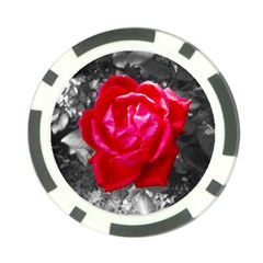 Red Rose Poker Chip (10 Pack)