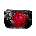 Red Rose Coin Change Purse Front
