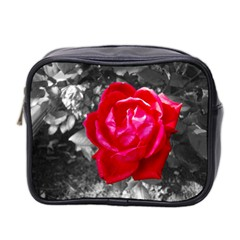 Red Rose Mini Travel Toiletry Bag (two Sides)
