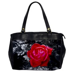 Red Rose Oversize Office Handbag (one Side)