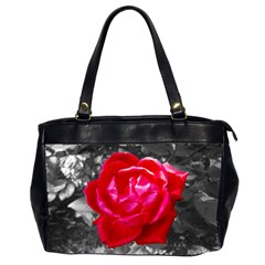 Red Rose Oversize Office Handbag (two Sides)