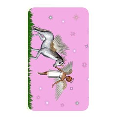 Unicorn And Fairy In A Grass Field And Sparkles Memory Card Reader (rectangular) by goldenjackal