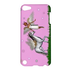 Unicorn And Fairy In A Grass Field And Sparkles Apple Ipod Touch 5 Hardshell Case