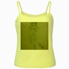 Mischevious Yellow Spaghetti Tank by WispsofFantasy
