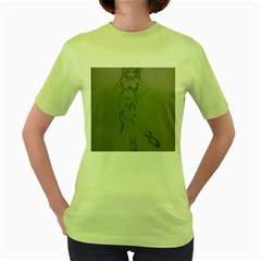 Mischevious Women s T-shirt (green) by WispsofFantasy