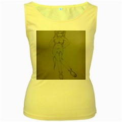Mischevious Women s Tank Top (yellow) by WispsofFantasy