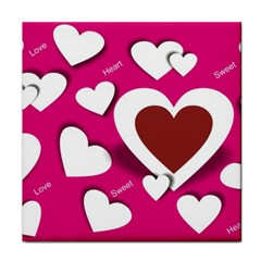 Valentine Hearts  Ceramic Tile by Colorfulart23