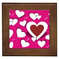 Valentine Hearts  Framed Ceramic Tile by Colorfulart23