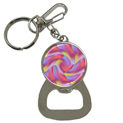 Colored Swirls Bottle Opener Key Chain by Colorfulart23