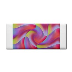 Colored Swirls Hand Towel by Colorfulart23