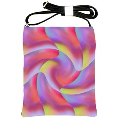 Colored Swirls Shoulder Sling Bag