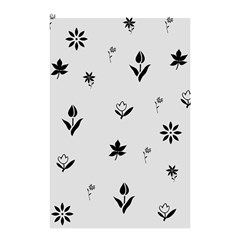 Natural Design (b&w) Shower Curtain 48  X 72  (small)