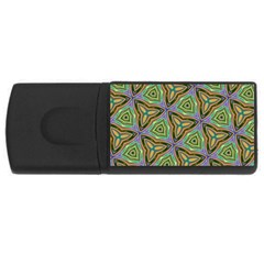 Elegant Retro Art 4gb Usb Flash Drive (rectangle) by Colorfulart23