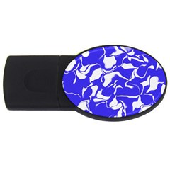 Swirl 4gb Usb Flash Drive (oval) by Colorfulart23