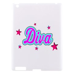 Pink Diva Apple Ipad 3/4 Hardshell Case by Colorfulart23
