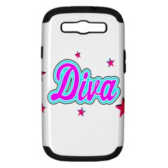 Pink Diva Samsung Galaxy S Iii Hardshell Case (pc+silicone) by Colorfulart23