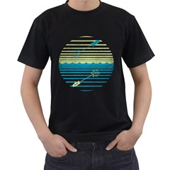 Blast Off Or Dive Deep Men s T-shirt (black) by Contest1861806