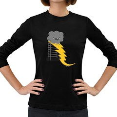 Ride The Lightning! Women s Long Sleeve T Shirt (dark Colored) by Contest1861806