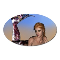 Mermaid On The Beach  Magnet (oval) by goldenjackal