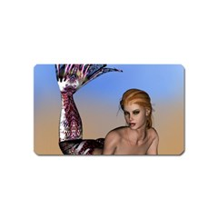 Mermaid On The Beach  Magnet (name Card) by goldenjackal