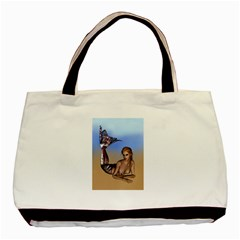 Mermaid On The Beach  Classic Tote Bag by goldenjackal