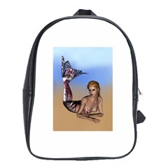 Mermaid On The Beach  School Bag (large)