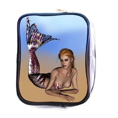 Mermaid On The Beach  Mini Travel Toiletry Bag (one Side) by goldenjackal
