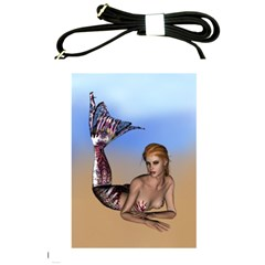 Mermaid On The Beach  Shoulder Sling Bag