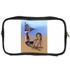 Mermaid On The Beach  Travel Toiletry Bag (one Side)