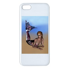 Mermaid On The Beach  Iphone 5s Premium Hardshell Case by goldenjackal
