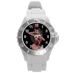 Miss Bunny In Red Lingerie Plastic Sport Watch (large)