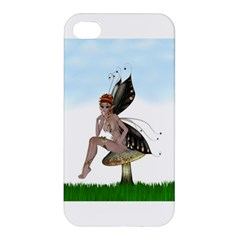 Fairy Sitting On A Mushroom Apple Iphone 4/4s Premium Hardshell Case by goldenjackal