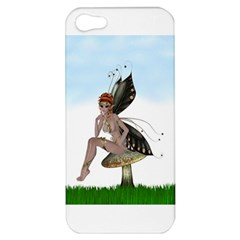 Fairy Sitting On A Mushroom Apple Iphone 5 Hardshell Case by goldenjackal