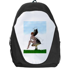 Fairy Sitting On A Mushroom Backpack Bag