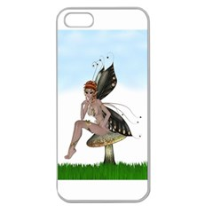 Fairy Sitting On A Mushroom Apple Seamless Iphone 5 Case (clear) by goldenjackal