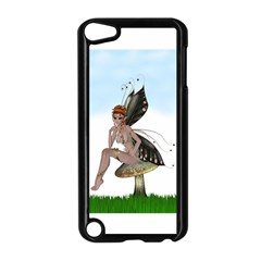 Fairy Sitting On A Mushroom Apple Ipod Touch 5 Case (black) by goldenjackal
