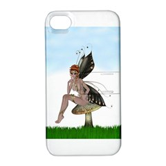 Fairy Sitting On A Mushroom Apple Iphone 4/4s Hardshell Case With Stand by goldenjackal