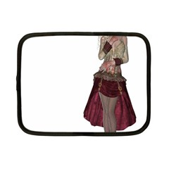 Steampunk Style Girl Wearing Red Dress Netbook Sleeve (small) by goldenjackal