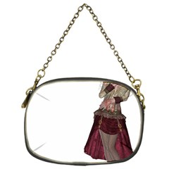 Steampunk Style Girl Wearing Red Dress Chain Purse (one Side) by goldenjackal