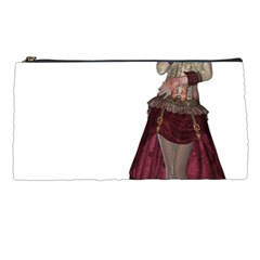 Steampunk Style Girl Wearing Red Dress Pencil Case by goldenjackal