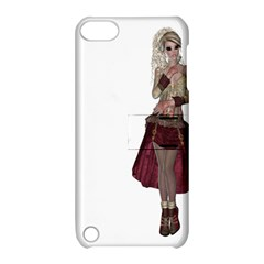 Steampunk Style Girl Wearing Red Dress Apple Ipod Touch 5 Hardshell Case With Stand by goldenjackal
