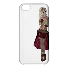 Steampunk Style Girl Wearing Red Dress Apple Iphone 5c Hardshell Case by goldenjackal